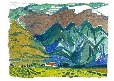Sierra Nevada. Watercolour on paper.